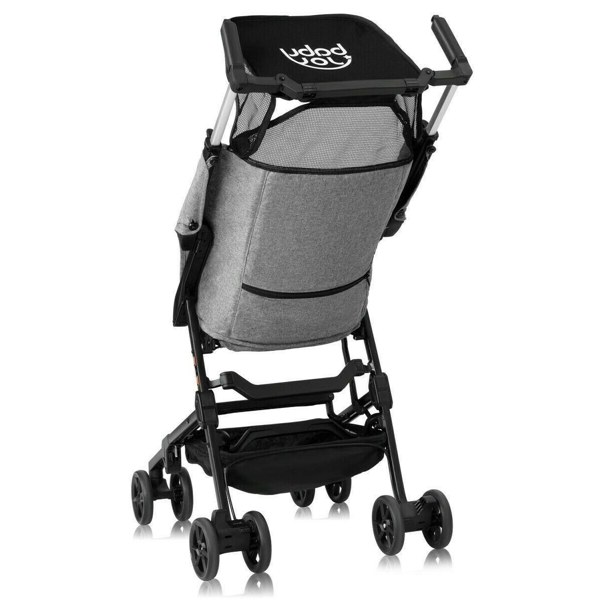 Pocket Strollers Lightweight Travel Baby Pushchair Canopy