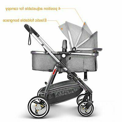 Besrey Pram in 1 Carriage with Convertible