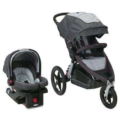 relay click connect jogging stroller travel system