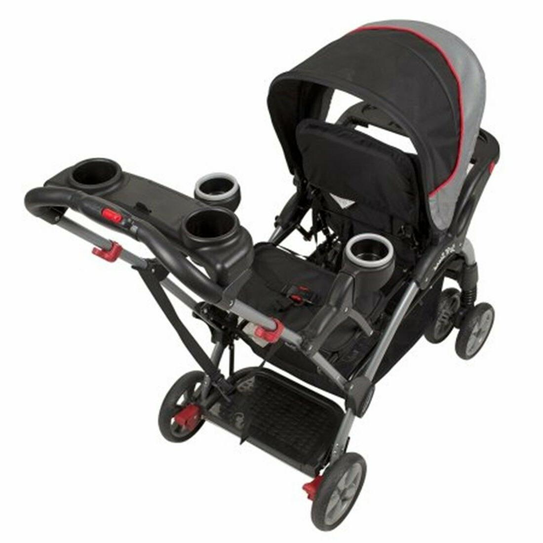 Baby Trend Sit Stand Double Stroller Car Seat Set