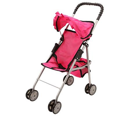 spring stroller pink toy double