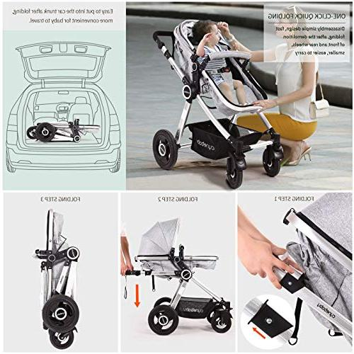 Carriage Stroller Cynebaby All Vista Convertible Luxury Strollers add Foot Cover