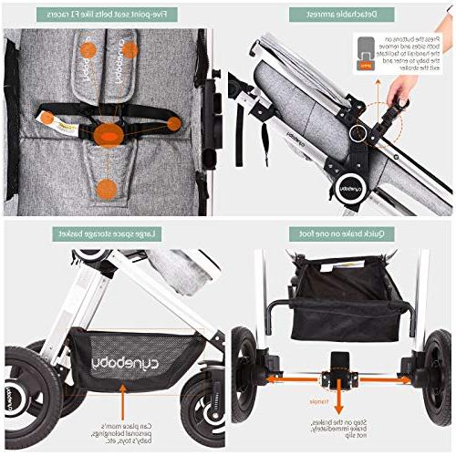 Baby Stroller Carriage All Terrain Vista Select Convertible Luxury Strollers add Foot