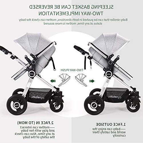 Baby Bassinet Carriage Stroller - Cynebaby All Select Stroller Compact Convertible Luxury Foot