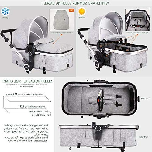 Baby Bassinet Carriage - All Select Convertible Foot