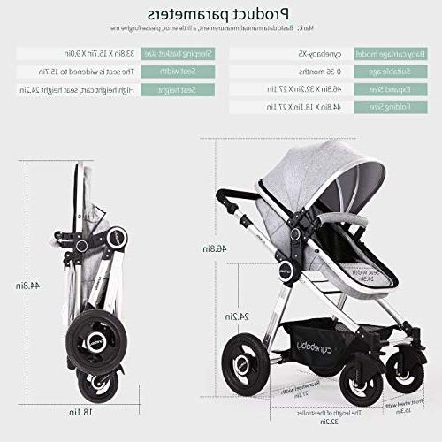 Baby Carriage - Cynebaby All Terrain City Select Convertible Foot