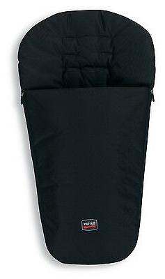 footmuff in black for all strollers brand