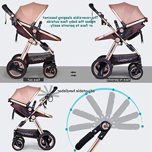Infant Baby Newborn and - Cynebaby Convertible Bassinet Compact Toddler Stroller Luxury Pram Stroller Cup Tray