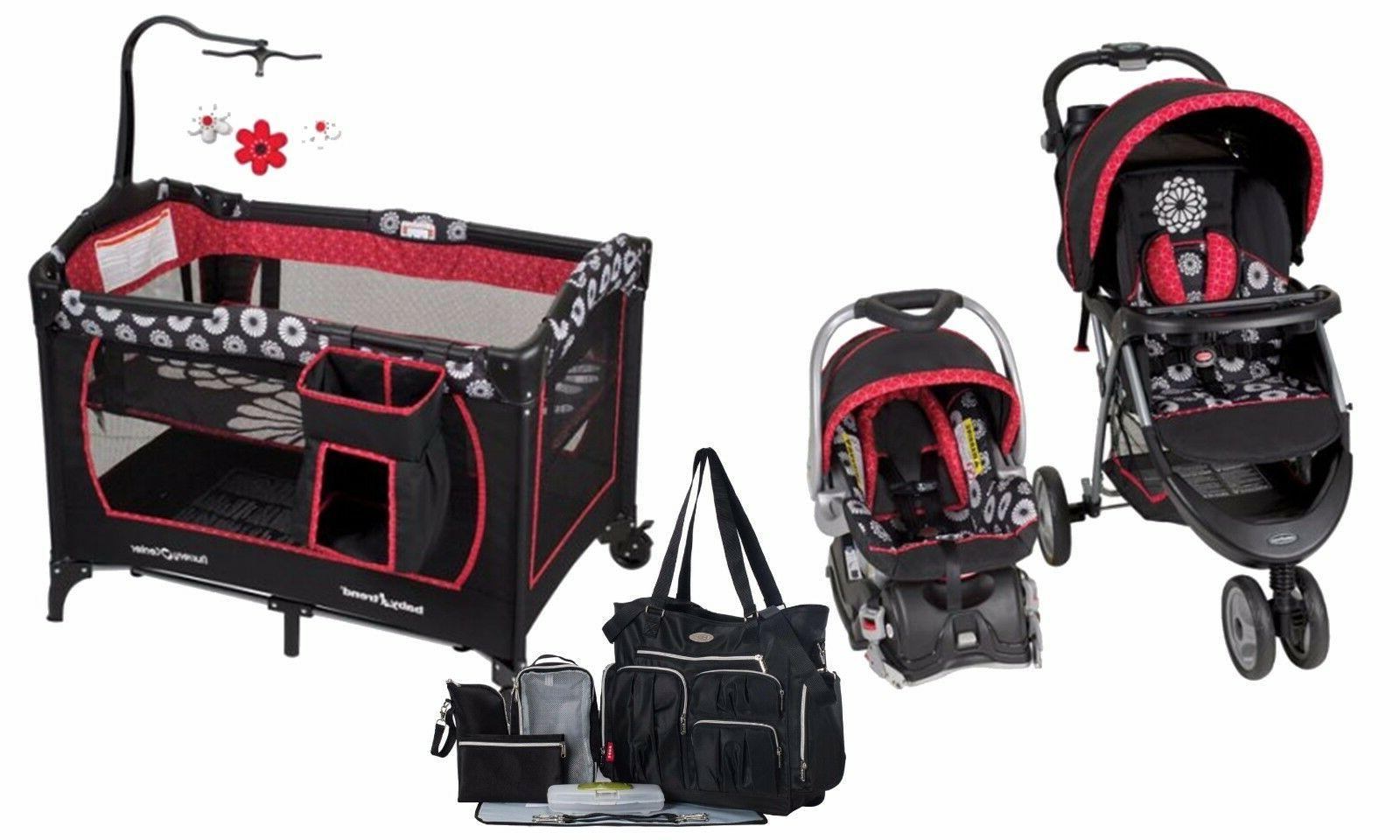 stroller with car seat travel system playard