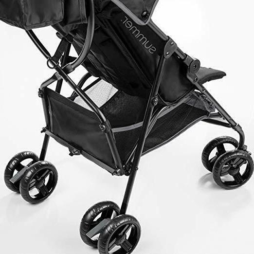 Summer Infant 3D Convenience Stroller 2 cup holders storage pouch, Gray