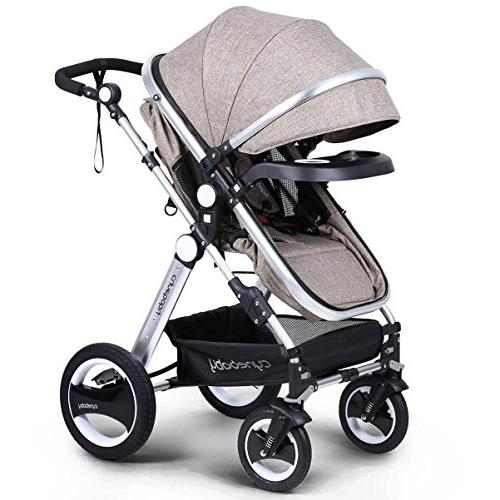 Infant Toddler Baby Carriage - Compact Pram Strollers add Tray