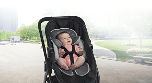 Breathable Body for Seat Stroller - Removable Inserts - Custom Fit Size - Waterproof Base for and