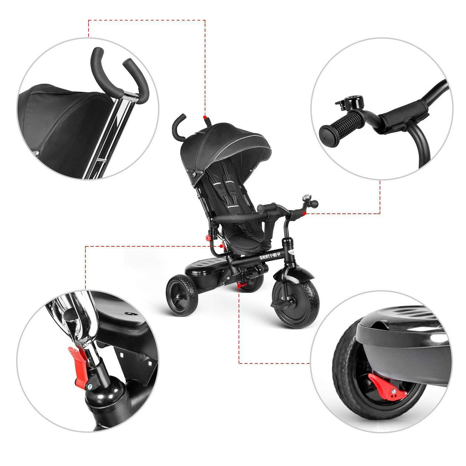 besrey Tricycle Baby pedals with Hood