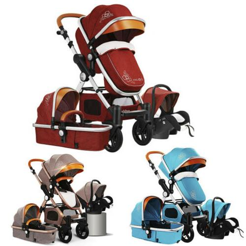 upgrade 3in1 luxury baby strollers high landscape