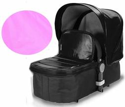 Baby Roues LeTour Leather Canopy with Bassinet Apron, Pink