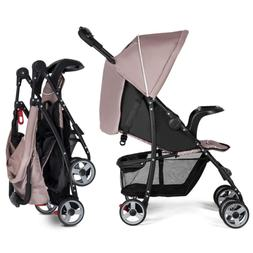 Lightweight Baby Stroller, Foldable Stroller with 5-Point Sa