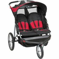 Baby Trend Lightweight Expedition Double Jogger Stroller Bla