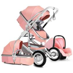 Lotus Color 3 in1 Baby Stroller Foldable Pushchair Bassinet
