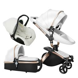 Luxury 3 in 1 baby stroller high landscape 360 ° rotating l
