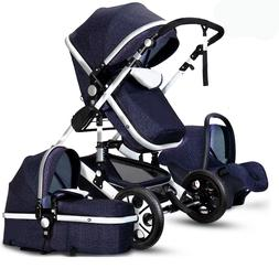 luxury 3 in 1 baby stroller high