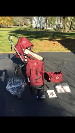 Maroon Bugaboo Stroller all parts and accessories new condit