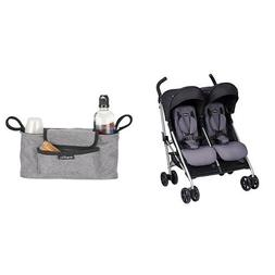 Evenflo Minno Twin Double Stroller, Glenbarr Grey with Unive
