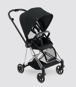Cybex Mios Stroller - Chrome - with Stardust Black Seat Fabr