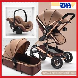 Multifunctional Baby Strollers 3 in 1 With Car Seat Seat Cus