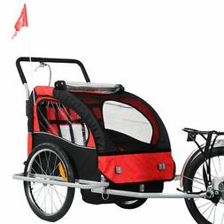 New 2 in 1 Bicycle Carrier Double Infant Child Baby Bike Tra