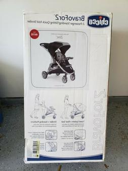 NEW Chicco Bravo For 2 BABY TODDLER Stroller in Zinc BravoFo