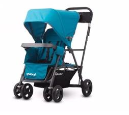 NEW Joovy Caboose Ultralight Graphite Tandem Stroller Turquo