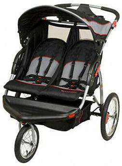 Baby Trend Swivel Double Jogger Infant Jogging Stroller Stor