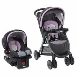 NEW!!! Graco FastAction Fold Janey Travel System- Black/Purp