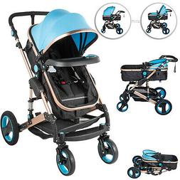 3 in 1 Luxury Baby Stroller Newborn Pram Foldable Infant Pus