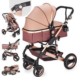 Newborn Baby Stroller Luxury Buggy Pram Foldable Pushchair I