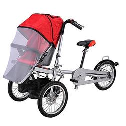 One/Two Seat Folding Mother Baby Toddle Child Kids' Tricycle