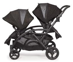 Contours Options Elite Tandem Stroller, Carbon Gray - Free S