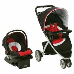 pace click connect travel system spice red