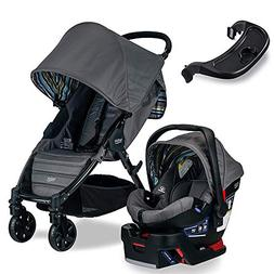 Britax Pathway & B-Safe 35 Travel System, Crew with Tray Bun