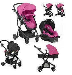 Pink Baby Stroller Car Seat Carriage 3 in 1 Travel System Ba