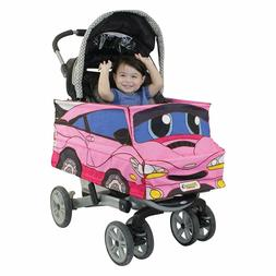 Pink Car Stroller Costume Turns Stroller Into a Car Toy  NEW
