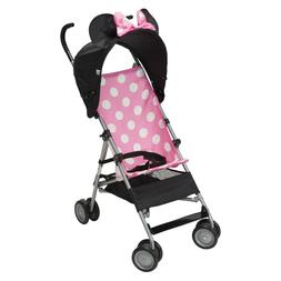 Pink Minnie Mouse 3D Canopy Lightweight Compact Baby Umbrell