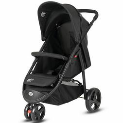 Portable 3 Wheel Folding Baby Stroller Kids Travel Pushchair