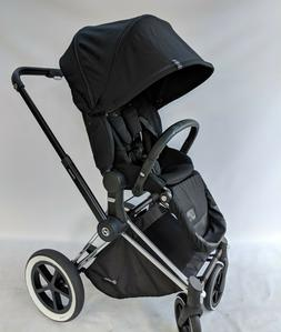 CYBEX Priam Stroller chrome Frame and Platinum Black Seat