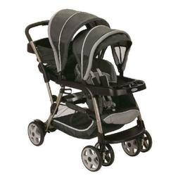 Graco Ready2Grow Click Connect LX Double Stroller, Glacier