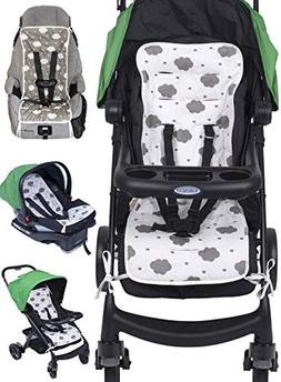 Reversible Pure Cotton Universal Baby Seat Liner for Strolle