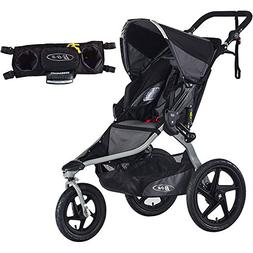 BOB Revolution Flex Stroller - Black/Black with Handlebar Co