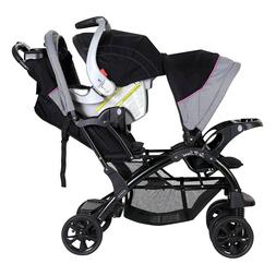 Baby Trend Sit 'N Stand Double Stroller, Millennium Pink