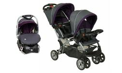 Baby Trend Sit n Stand Double Stroller with Car Seat Travel