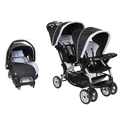 Baby Trend Sit N Stand Tandem Stroller + Infant Car Seat Tra